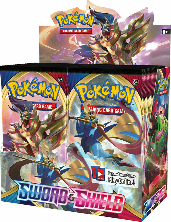 Pokemon Sword and Shield 10 Booster Pack Lot