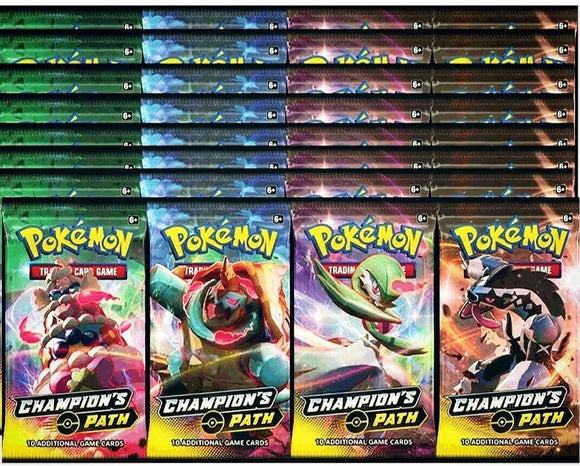 Pokemon Champion's Path Booster 10 Pack Lot