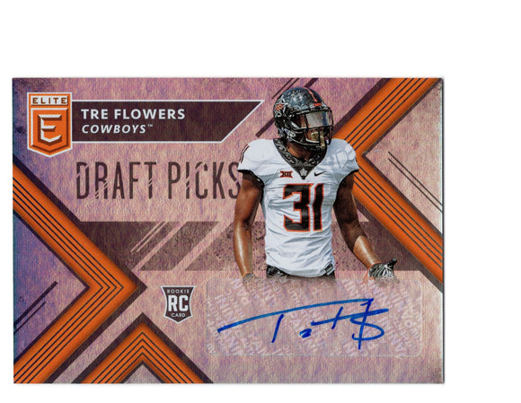 Tre Flowers Signed 2018 Donruss Elite Draft Picks RC *FREE SHIPPING*