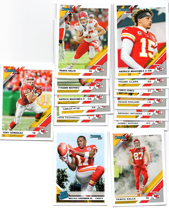 2019 Donruss Kansas City Chiefs Team Set *FREE SHIPPING*