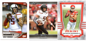 Patrick Mahomes Rookie 3 Card Lot #1 *FREE SHIPPING*