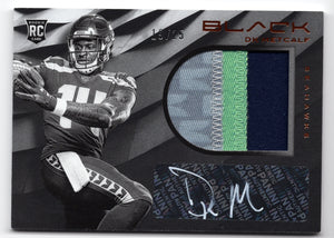 DK Metcalf Signed 2019 Panini Black RC #19/25  *FREE SHIPPING*