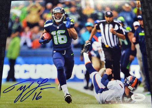 Tyler Lockett Seahawks Signed 8x10 Photo #10 *FREE SHIPPING*