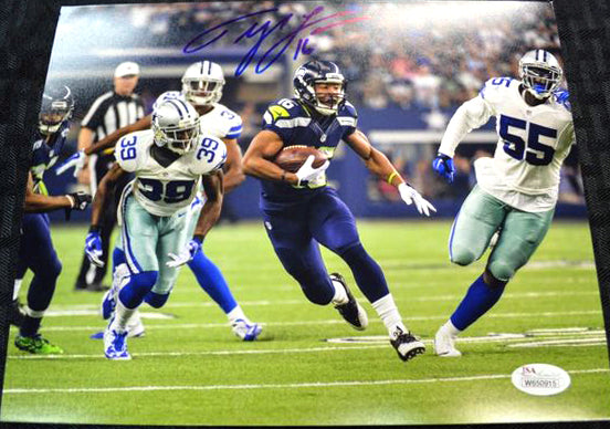 Tyler Lockett Seahawks Signed 8x10 Photo #2 *FREE SHIPPING*