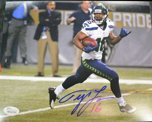 Tyler Lockett Seahawks Signed 8x10 Photo #5 *FREE SHIPPING*