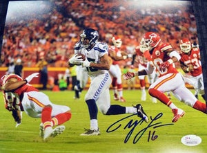 Tyler Lockett Seahawks Signed 8x10 Photo #7 JSA COA