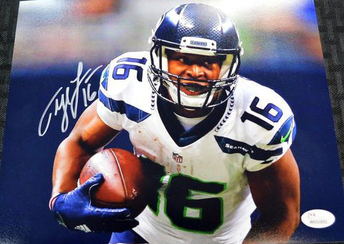 Tyler Lockett Seahawks Signed 8x10 Photo #8 *FREE SHIPPING*
