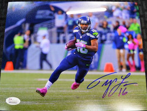 Tyler Lockett Seahawks Signed 8x10 Photo #9 JSA COA