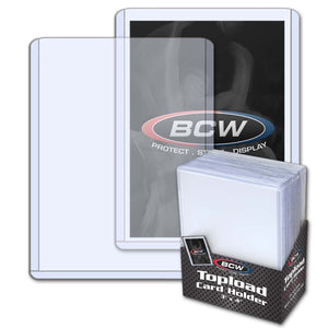 Top Load Rigid Card Holder Standard Thickness Package (25)