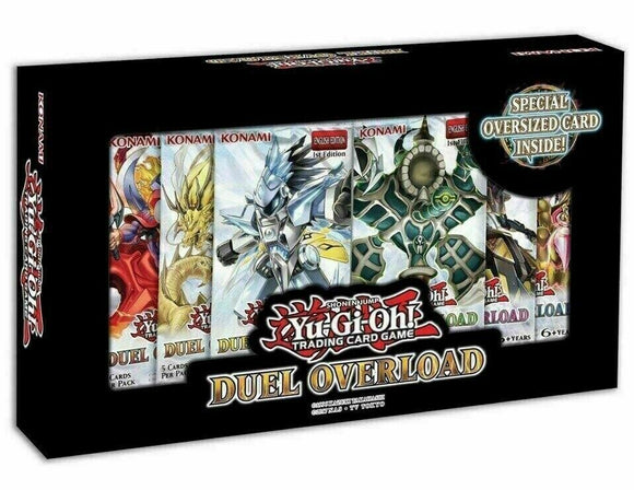 YuGiOh Duel Overload Box 100 card Set w/6 Booster Packs