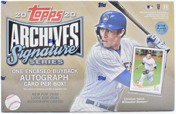 2020 Topps Archives Signature Active Edition Hobby Box