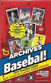 2019 Topps Archives Hobby Box