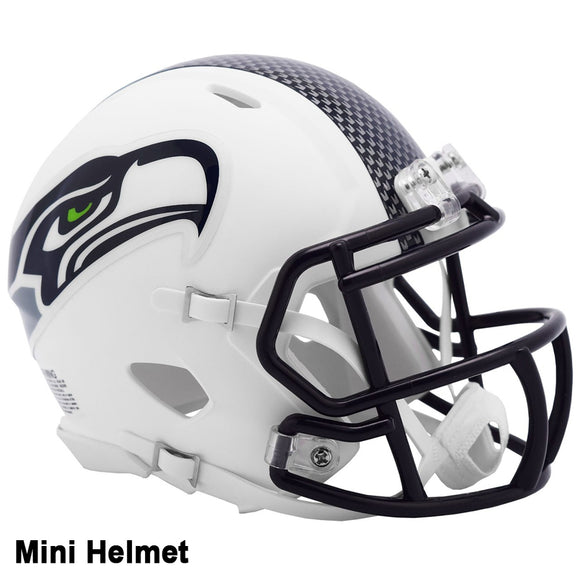 Seattle Seahawks Riddell Flat White Mini Helmet