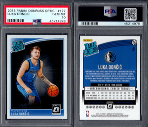 PSA 10 2018-19 Donruss Optic Rated Rookie #177 Luka Doncic RC Mavericks G00 2657
