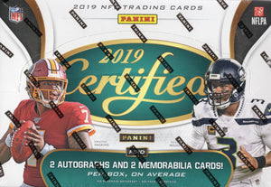 2019 Panini Certified NFL Football Hobby Box