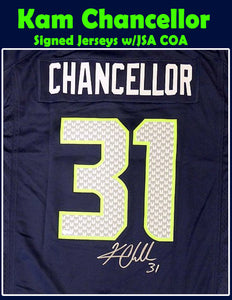 Kam Chancellor Signed Seahawks Jersey w/JSA COA *FREE SHIPPING*
