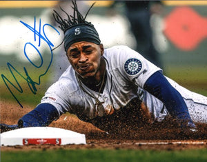 Mallex Smith Seattle Mariners Signed 8x10 Photo C Stealing Zoomed In *FREE SHIPPING*