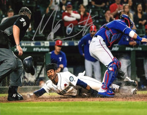 Mallex Smith Seattle Mariners Signed 8x10 Photo B Stealing Home *FREE SHIPPING