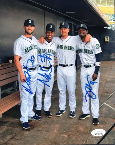 Mariners Signed Mitch Haniger, Mallex Smith & Dee Gordon 8x10 Photo *FREE SHIPPING*