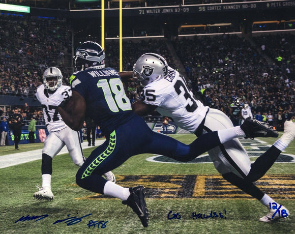 Kasen Williams UW Huskies/Seahawks Signed 8x10 Photo Limited /18 *FREE SHIPPING*