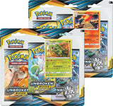 Pokemon Sun & Moon: Unbroken Bonds 3 Booster Pack Blister Sealed Case (72 Packs Total = 2 Booster Boxes)