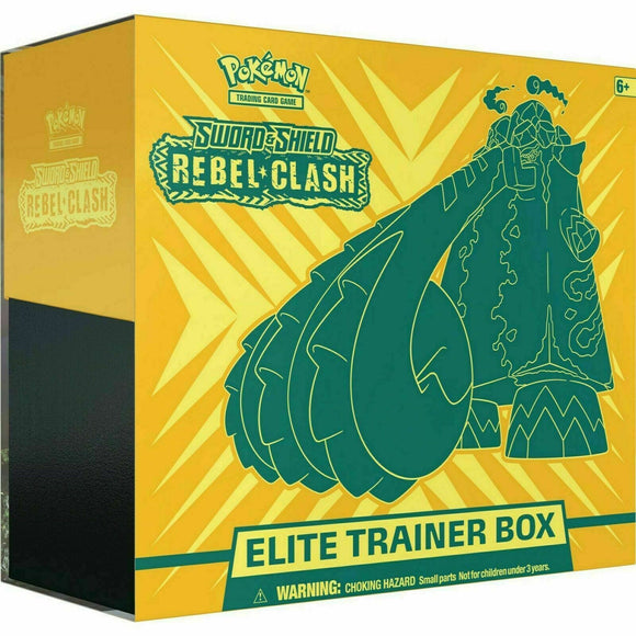 Pokemon Sword and Shield Rebel Clash Elite Trainer Box