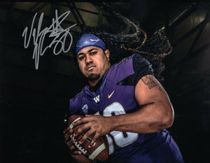 "Vita Vea UW Huskies Signed 8x10 Photo ""Mane Attraction"" *FREE SHIPPING*"
