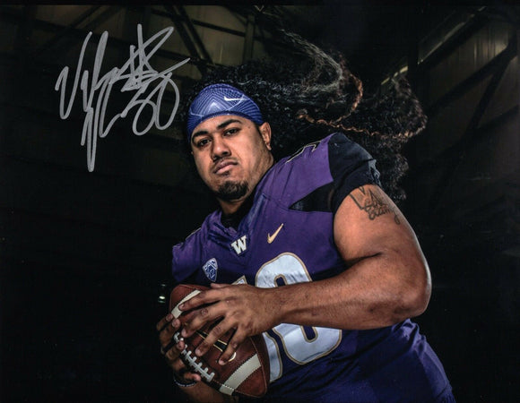 Vita Vea UW Huskies Signed 8x10 Photo