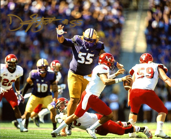 Danny Shelton UW Huskies Signed 8x10 Photo vs EWU