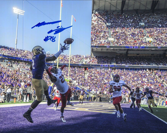 Kasen Williams UW Huskies Signed 8x10 Photo