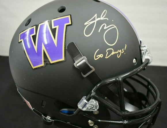 Jake Browning UW Huskies Signed Full Size Matte Black Helmet JSA COA *FREE SHIPPING*