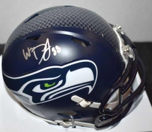 Will Dissly Seahawks Signed Mini Helmet JSA Certified Autograph *FREE SHIPPING*