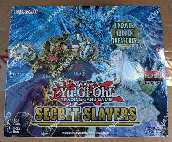 YuGiOh Secret Slayers 1st Edition Booster Box w/24 Booster Packs