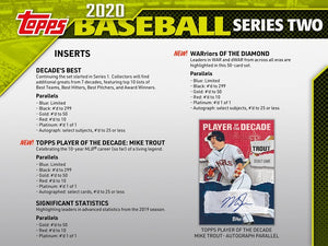 2020 Topps Series 2 Baseball Jumbo Hobby Box