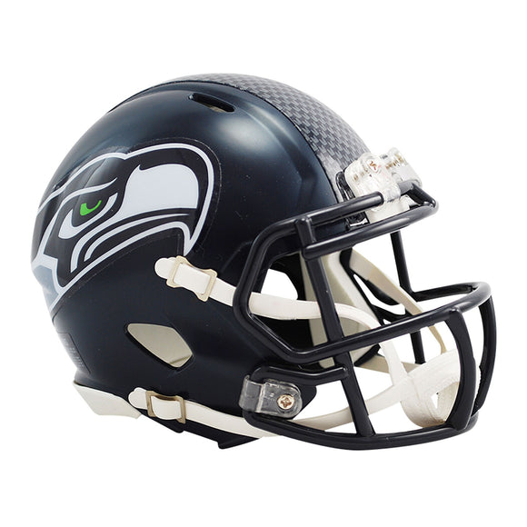 Seattle Seahawks Riddell Revolution Speed Mini Football Helmet Unsigned