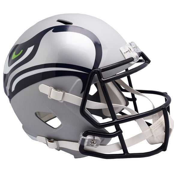 Seattle Seahawks AMP Alternate Revolution Speed Replica Football Helmet Unsigned