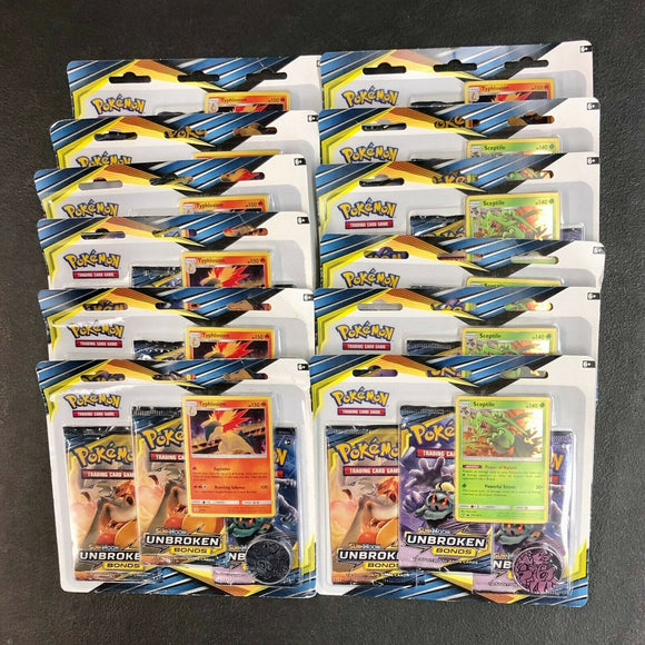 Pokemon Sun & Moon: Unbroken Bonds Blister Pack with 3 Booster Packs + Promo + Coin