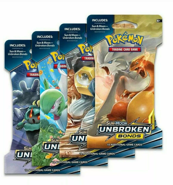 Pokemon Unbroken Bonds Booster Packs 10x Pack Lot