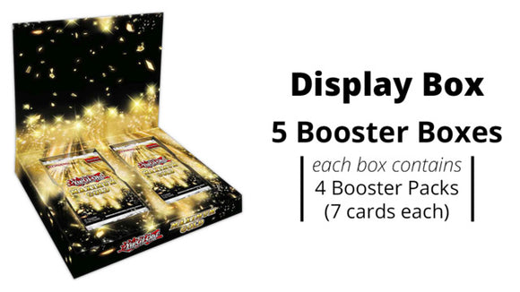 YuGiOh Maximum Gold Display Box ( 5 Boxes w/4 Packs each) Pre Order*