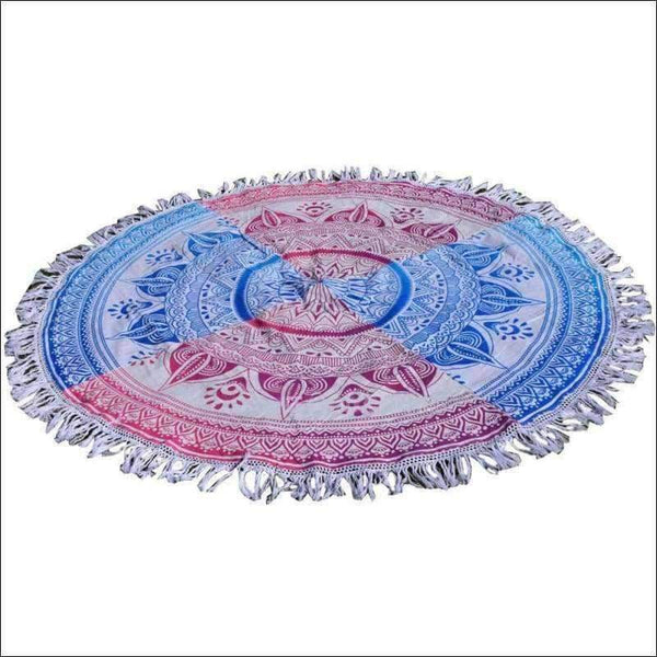 Beach Towels - Retro Round Beach Blanket