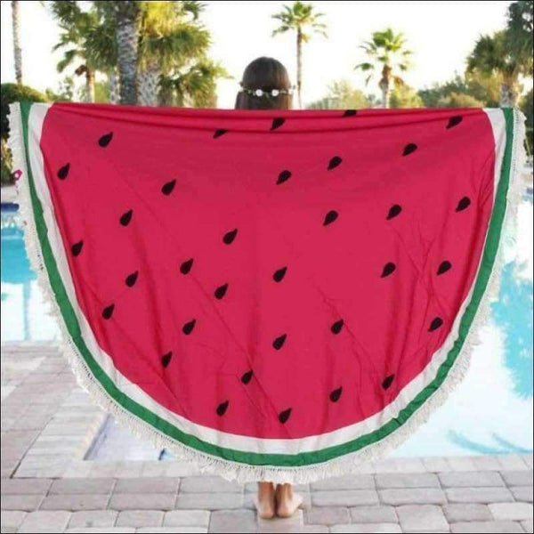 Beach Towels - YOGA TOWEL MAT WATERMELON