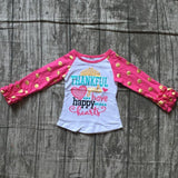 Kids - HOT PINK THANKFUL TOP