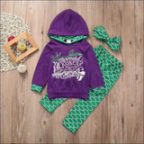 Kids - Mermaid Hoodie Set Toddler