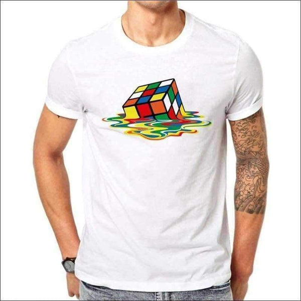 Mens - Rubik's Cube Printed Design Men T-shirt