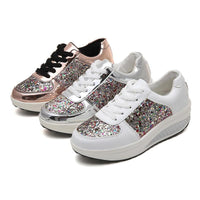 Outdoors - Woman Lace-Up Glitter-up And Go