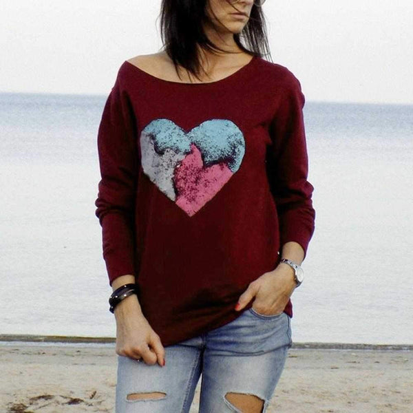SPARKLE HEART TOP RETRO