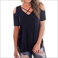 Womens - CHIFFON COLD SHOULDER TOP