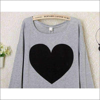 Womens - HEART SHIRT COMFORT TOP