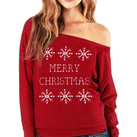 Womens - Merry Christmas Off Shoulder