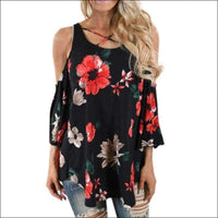 Womens - OPEN SLEEVE SHIRT FLORAL